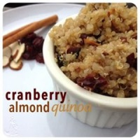 cranberry almond quinoa