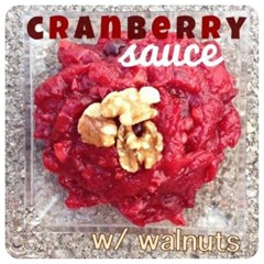 cranberry sauce with walnut