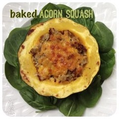 baked and stuffed acorn squash