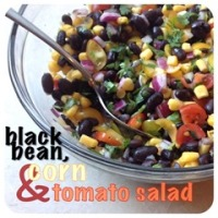 black bean corn tomato salad