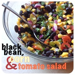 blck bean corn and tomato salad