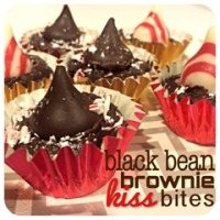 black bean brownie kiss bites
