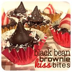 black bean brownie kiss bites