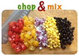 chop and mix