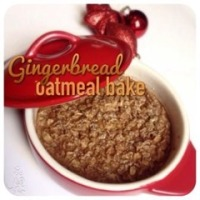 gingerbread oatmeal bake