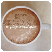 hot chocolate with gingerbread