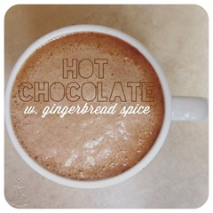 hot chocolate with gingerbread spice
