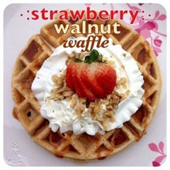 strawberry walnut waffle