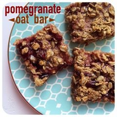 pomegranate oat bar