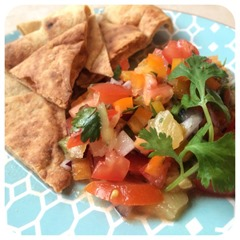 salsa with pita